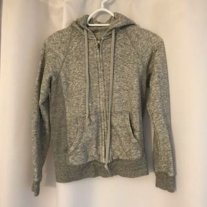Uniqlo grey zip up hoodie